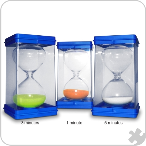Giant Sand Timers, Set of 3 - 1,3 & 5 Minutes
