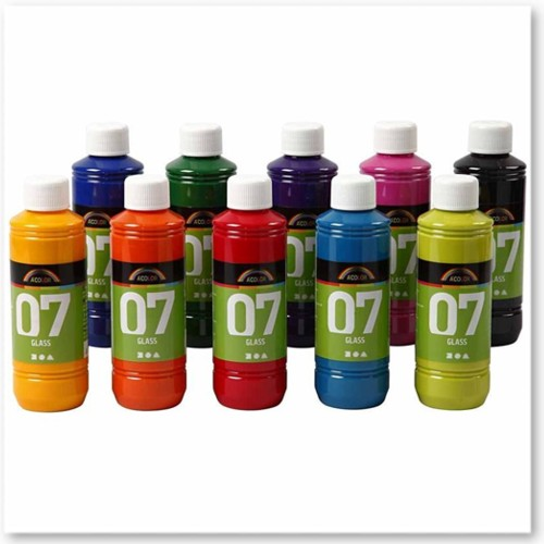 A-Color Glass Paints, 10 x 250ml