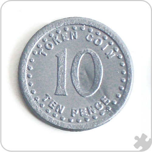 10p Coins Play Money