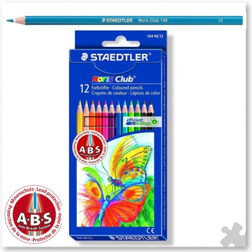 12 Noris Club Colouring Pencils