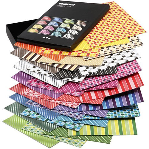 160 Sheets of Color Bar Patterned Paper