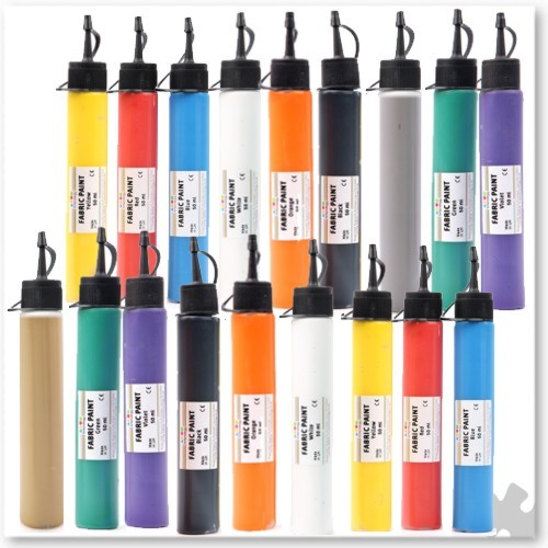 Fabric Paint, 18 Small Tubes