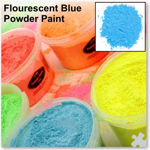 Fluorescent Blue Powder Paint, 2kg