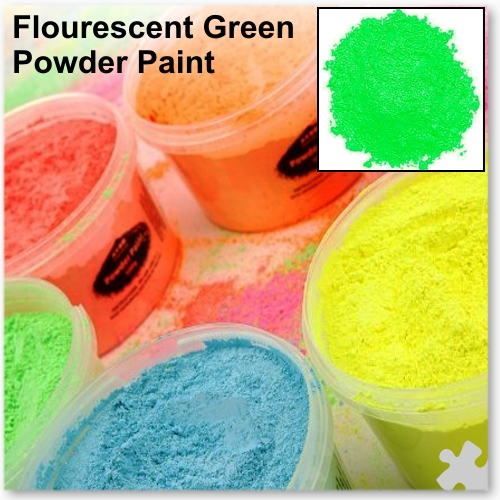 Fluorescent Green Powder Paint, 2kg