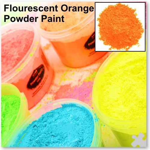 Fluorescent Orange Powder Paint, 2kg