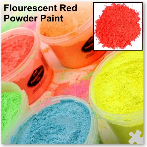 Fluorescent Red Powder Paint, 2kg