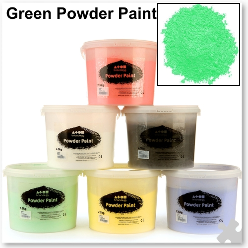 Brilliant Green Powder Paint, 2.5kg