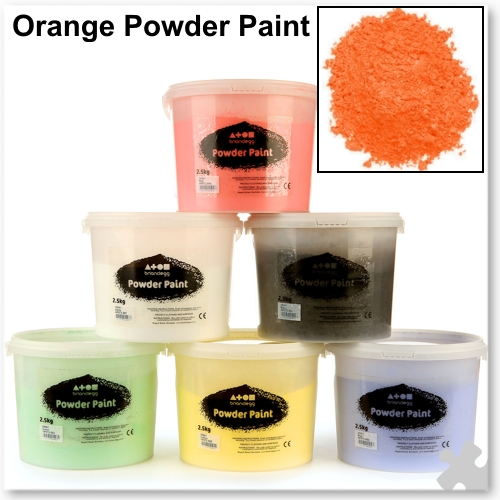 Orange Powder Paint, 2.5kg
