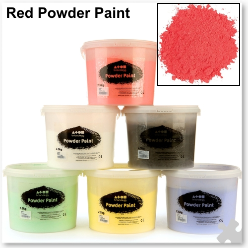 Brilliant Red Powder Paint, 2.5kg