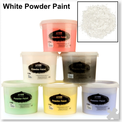 Brilliant White Powder Paint, 2.5kg