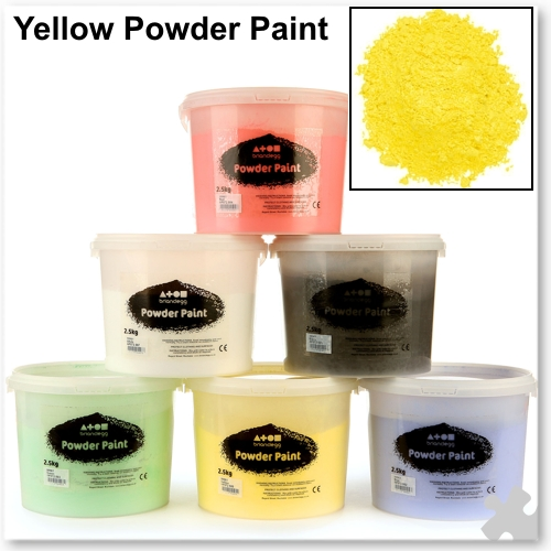 Brilliant Yellow Powder Paint, 2.5kg