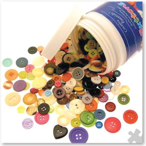 Tub of Assorted Buttons