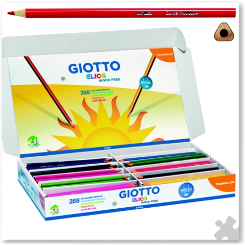 288 Giotto Elios Triangular Wood Free Pencils