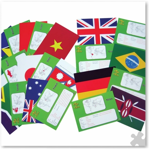 Flags & Facts Cards