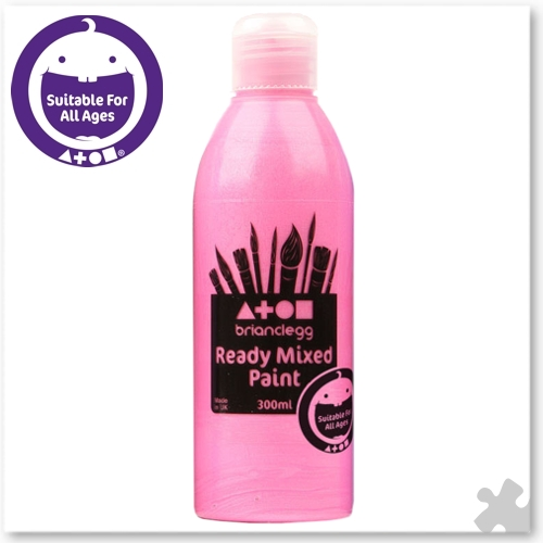 Pink Pearlescent Ready Mixed Paint, 300ml