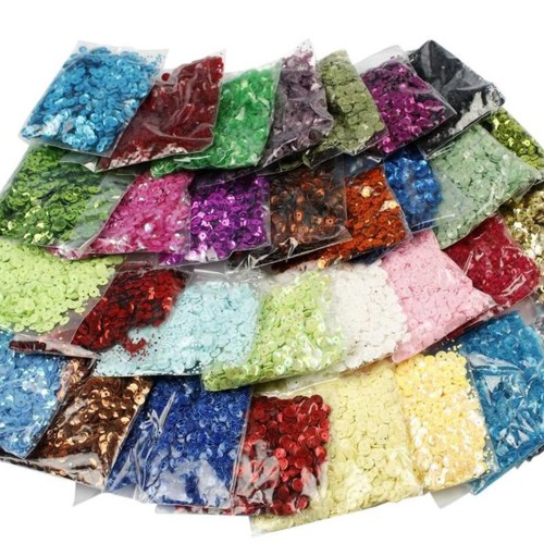 Round Sequins, 32 Bags of Assorted Colours