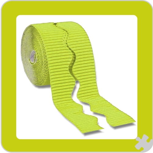 Lime Bordette Border Roll, Scalloped Edge