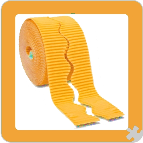 Sunset Gold Bordette Border Roll, Scalloped Edge