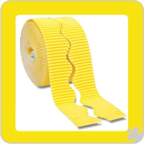 Canary Yellow Bordette Border Roll with Scalloped Edge