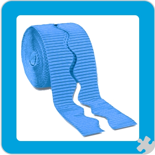 Bright Blue Bordette Border Roll, Scalloped Edge