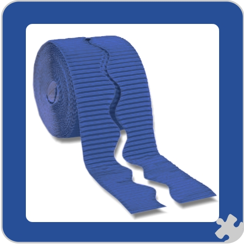 Royal Blue Bordette Border Roll, Scalloped Edge