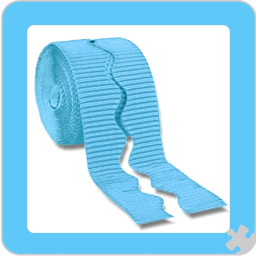 Sky Blue Bordette Border Roll, Scalloped Edge