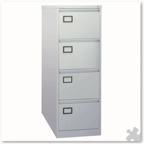 4 Drawer Flush front Filing Cabinet - Grey