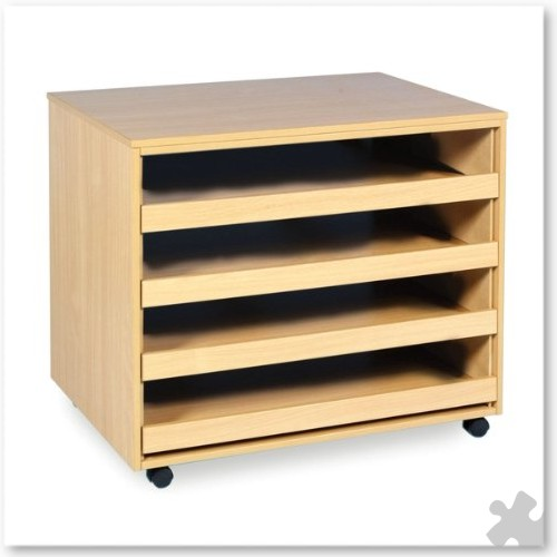 4 Sliding Drawer Open Paper Storage