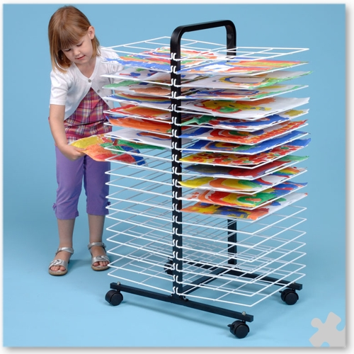 40 Shelf A3 Mobile Drying Rack