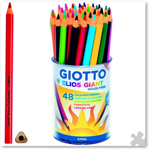 48 Giotto Elios Giant Triangular Pencils