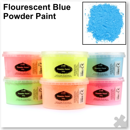 Fluorescent Blue Powder Paint - 500g Tub