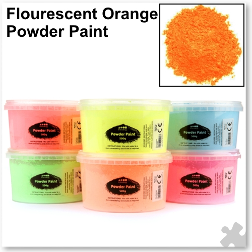 Fluorescent Orange Powder Paint - 500g Tub