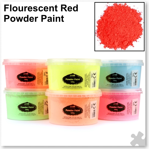 Fluorescent Red Powder Paint - 500g Tub