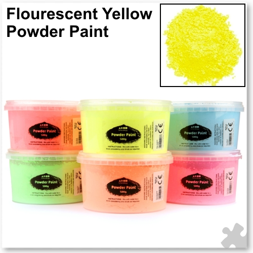Fluorescent Yellow Powder Paint - 500g Tub