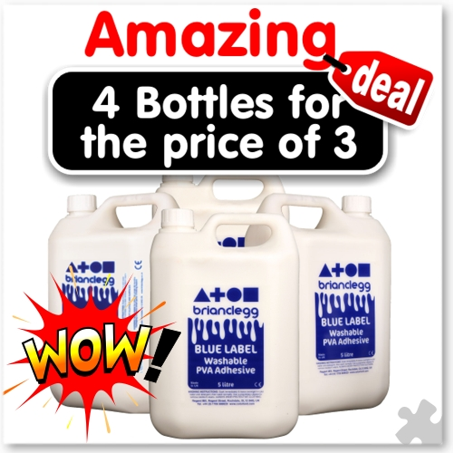 PVA Glue - 4 Bottles of 5L for the price of 3