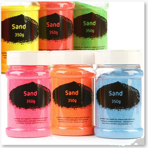 Fluorescent Coloured Craft Sand