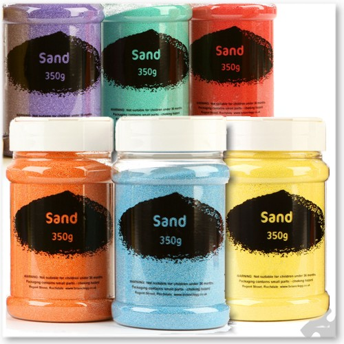 Pastel Coloured Craft Sand