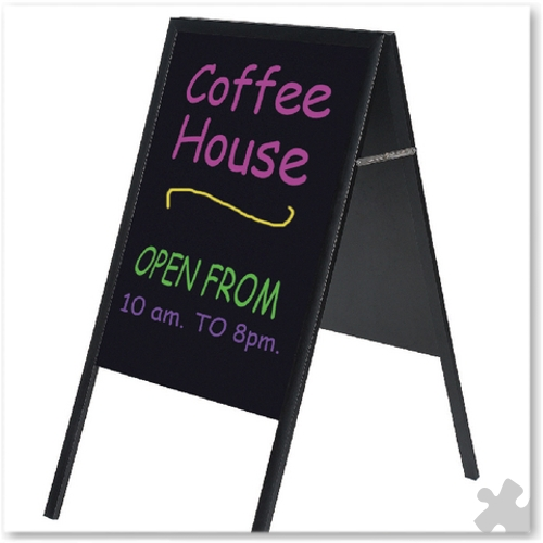 A Frame Chalk Board With Black Frame