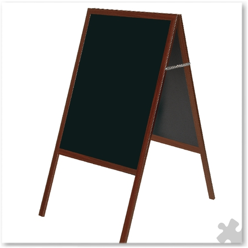 A Frame Chalk Board With Cherry Frame