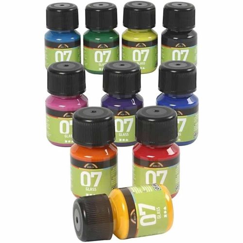 A-Color Glass Paints, 10 x 30ml