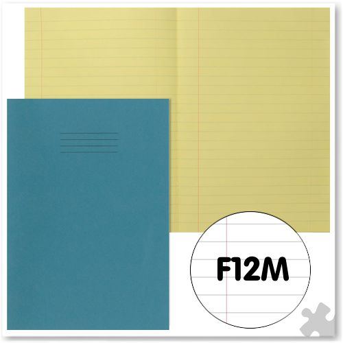 A4 Light Blue Exercise Book with Tinted Cream Paper F12M