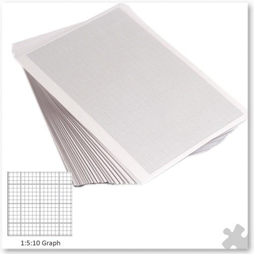 A4 Graph Paper G1:5:10, Unpunched