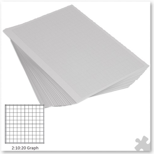 A4 Graph Paper G2:10:20, Unpunched