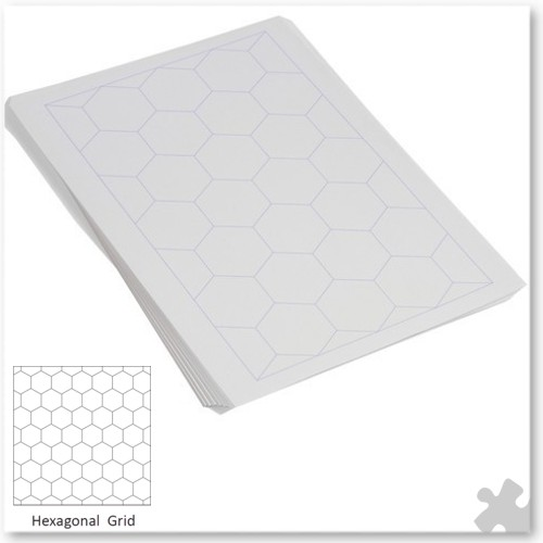 a4 25mm hexagonal grid paper  gp0531