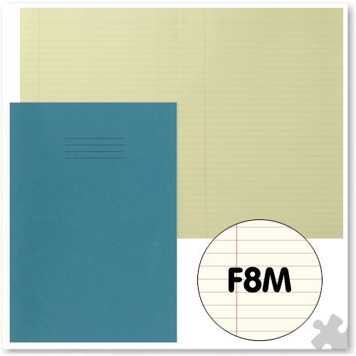 A4 Light Blue Exercise Book with Tinted Cream Paper F8M