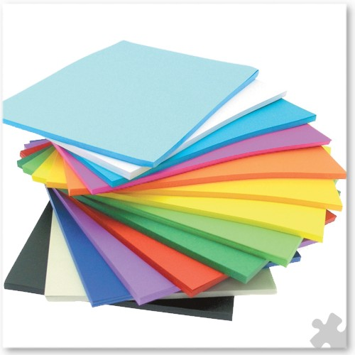 A4 Paper in Vivid Colours, Stackpack 500 Sheets