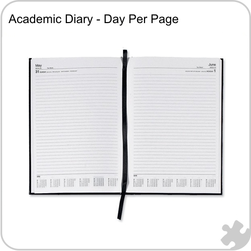 2017/18 A5 Academic Year Diary, Day per Page