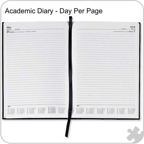 2017/18 A4 Academic Year Diary, Day per Page