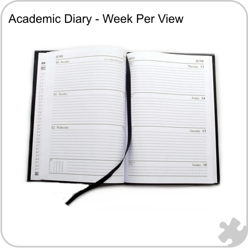 2017/18 A5 Academic Year Diary, Week to View