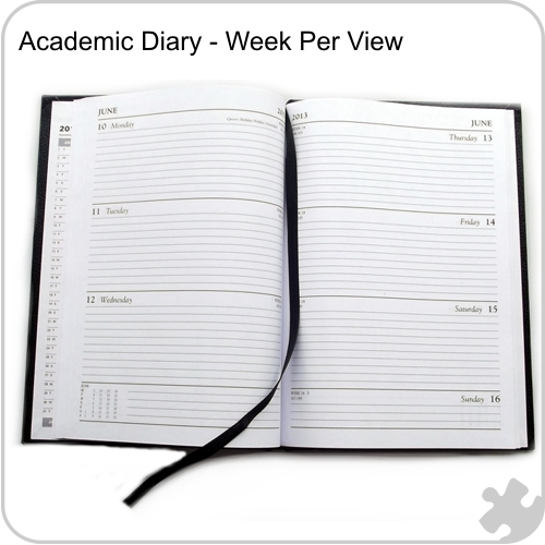 2017/18 A4 Academic Year Diary, Week to View